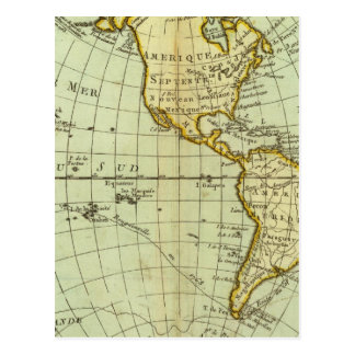 North America and South America Postcard