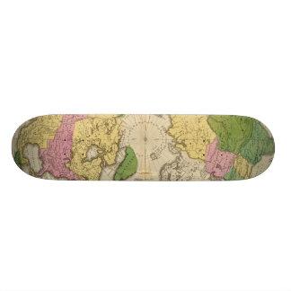 North America, Asia 21.6 Cm Skateboard Deck