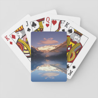 North America, Canada, Lake Louise morning Playing Cards