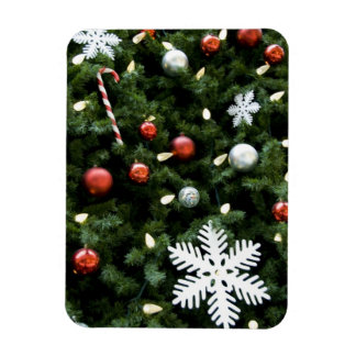 North America. Christmas decorations on tree. 4 Rectangular Photo Magnet