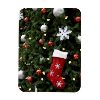 North America. Christmas decorations on tree. 5 Rectangular Photo Magnet