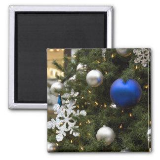 North America. Christmas decorations on tree. Fridge Magnets