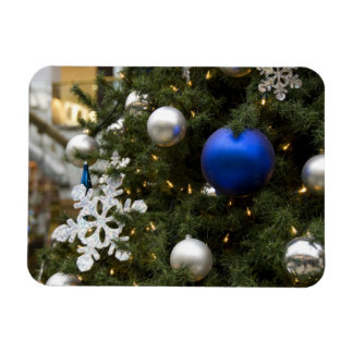North America. Christmas decorations on tree. Rectangular Photo Magnet