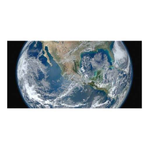 North America from low orbiting satellite Photo Cards