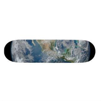 North America from low orbiting satellite Skateboard Decks