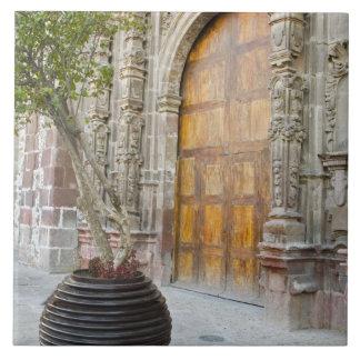 North America, Mexico, Guanajuato state, San 3 Large Square Tile