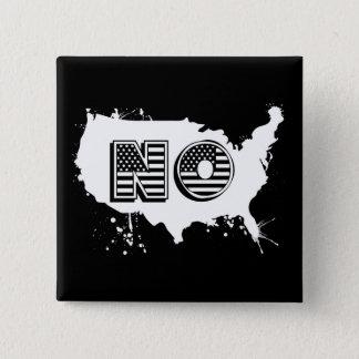 North America No Grunge Anti Trump Resist 15 Cm Square Badge