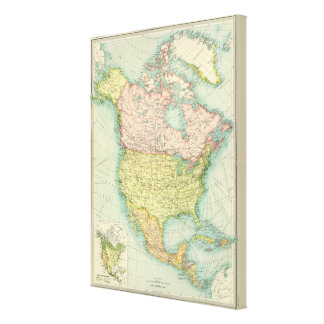 North America political Canvas Print