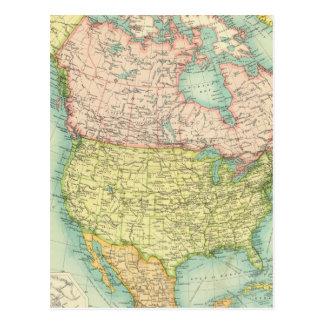 North America political Postcard