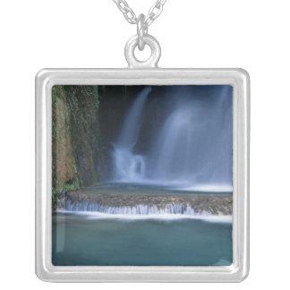 North America, U.S.A., Arizona, Havasu Canyon, 2 Square Pendant Necklace