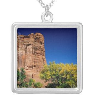 North America, USA, Arizona, Navajo Indian 3 Square Pendant Necklace