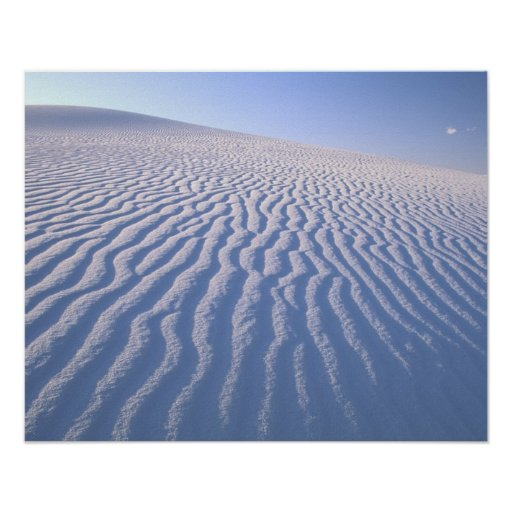 North America, USA, New Mexico, White Sand Dunes Posters