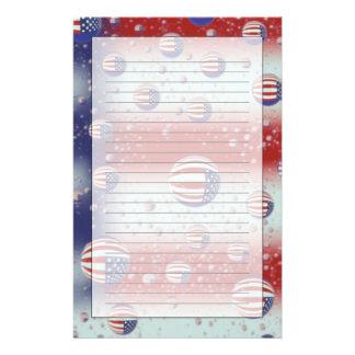 North America, USA, WA, Redmond, U.S. Flag Personalised Stationery