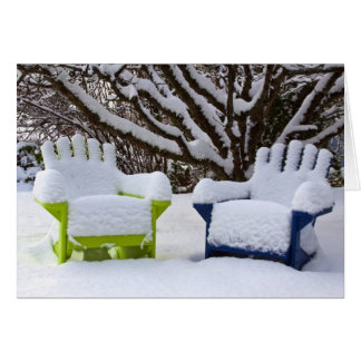 North America, USA, Washington, Seattle, Snow 3 Card