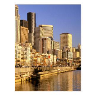 North America, USA, Washington State, Seattle. 4 Postcard