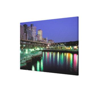 North America, USA, Washington State, Seattle. 6 Canvas Prints