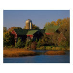 North America, USA, Wisconsin. Red Barn in Poster