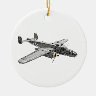North American B-25 Mitchell bomber Ceramic Ornament