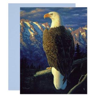 North American Bald Eagle Sky Blue Card