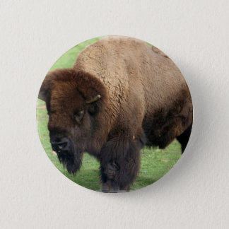 North American Bison Round Button