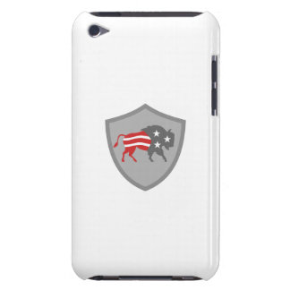 North American Bison USA Flag Shield Retro Barely There iPod Covers