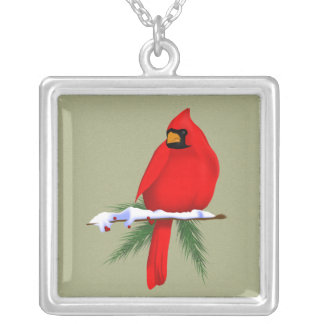 North American Cardinal Silver Plated Necklace