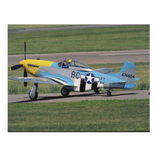 North American P-51 D Dazzling Donna on the Postcard