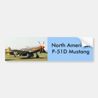 North American P-51D Mustang Bumper Sticker