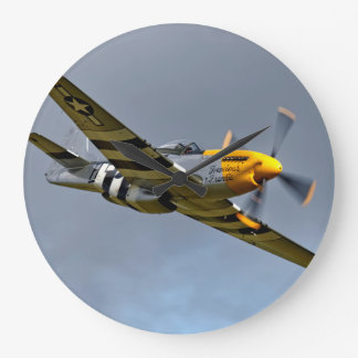 North American P-51D Mustang Large Clock