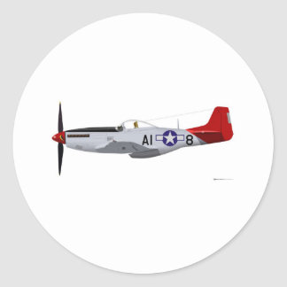 North American P-51D MustangTuskegee Airmen Classic Round Sticker