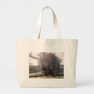 North American porcupine Large Tote Bag