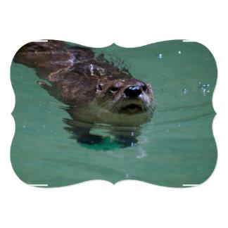 North American River Otter 13 Cm X 18 Cm Invitation Card