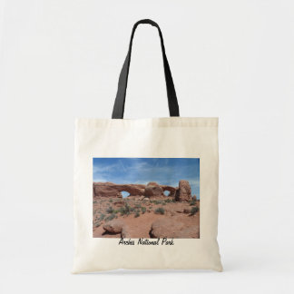 North and South Windows- Arches National Park Canvas Bags