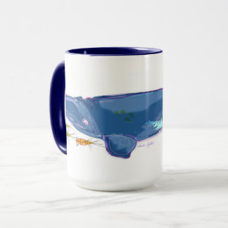 """North Atlantic Right Whale"" 15oz Combo Mug"