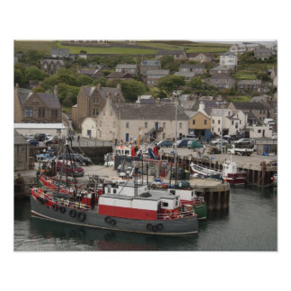 North Atlantic waterfront port of Stromness Poster