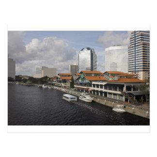 north bank Jacksonville Florida plaza Postcard