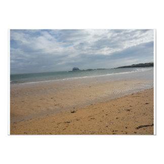 North Berwick Beach 13 Cm X 18 Cm Invitation Card