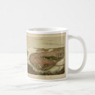 North Boston Massachusetts 1877 by John Bachmann Coffee Mug