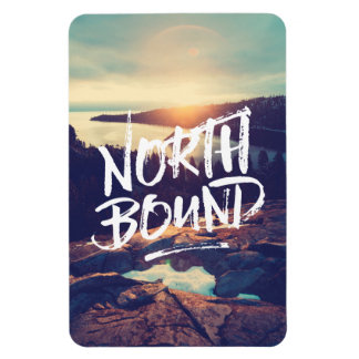 North Bound Quote Brush Typography Photo Template Rectangular Photo Magnet