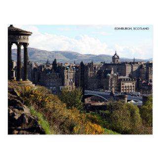 North Bridge, Edinburgh Postcard with City