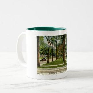 North Broadway, Saratoga Springs, NY Vintage Two-Tone Coffee Mug