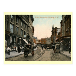 North Broadway, Yonkers, New York Vintage Postcard