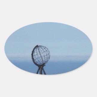 North cape oval sticker