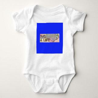 """North Carolina 4 Life"" State Map Pride Design Baby Bodysuit"