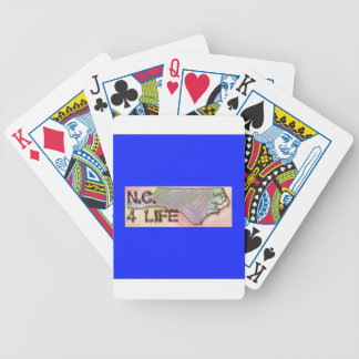 """North Carolina 4 Life"" State Map Pride Design Bicycle Playing Cards"