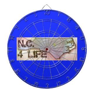 """""""North Carolina 4 Life"""" State Map Pride Design Dartboard"""