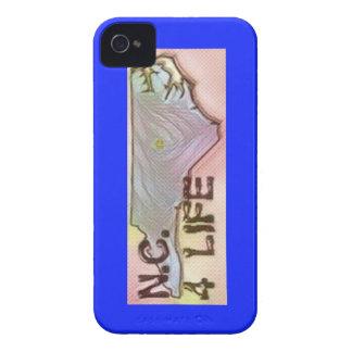 """North Carolina 4 Life"" State Map Pride Design iPhone 4 Case-Mate Cases"