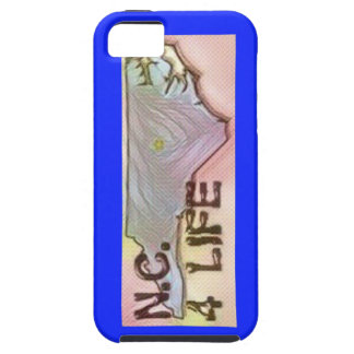 """North Carolina 4 Life"" State Map Pride Design iPhone 5 Case"