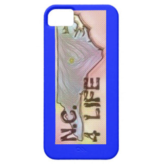 """North Carolina 4 Life"" State Map Pride Design iPhone 5 Cover"