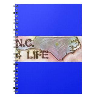 """North Carolina 4 Life"" State Map Pride Design Notebook"